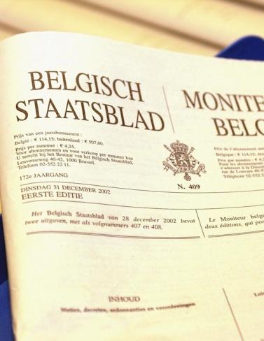 15/05/2020 gepubliceerd in het Belgisch Staatsblad cover photo